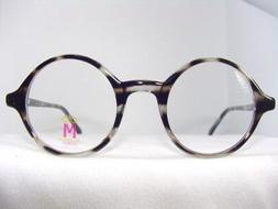 GREY COMPLETELY ROUND EYEGLASS FRAME