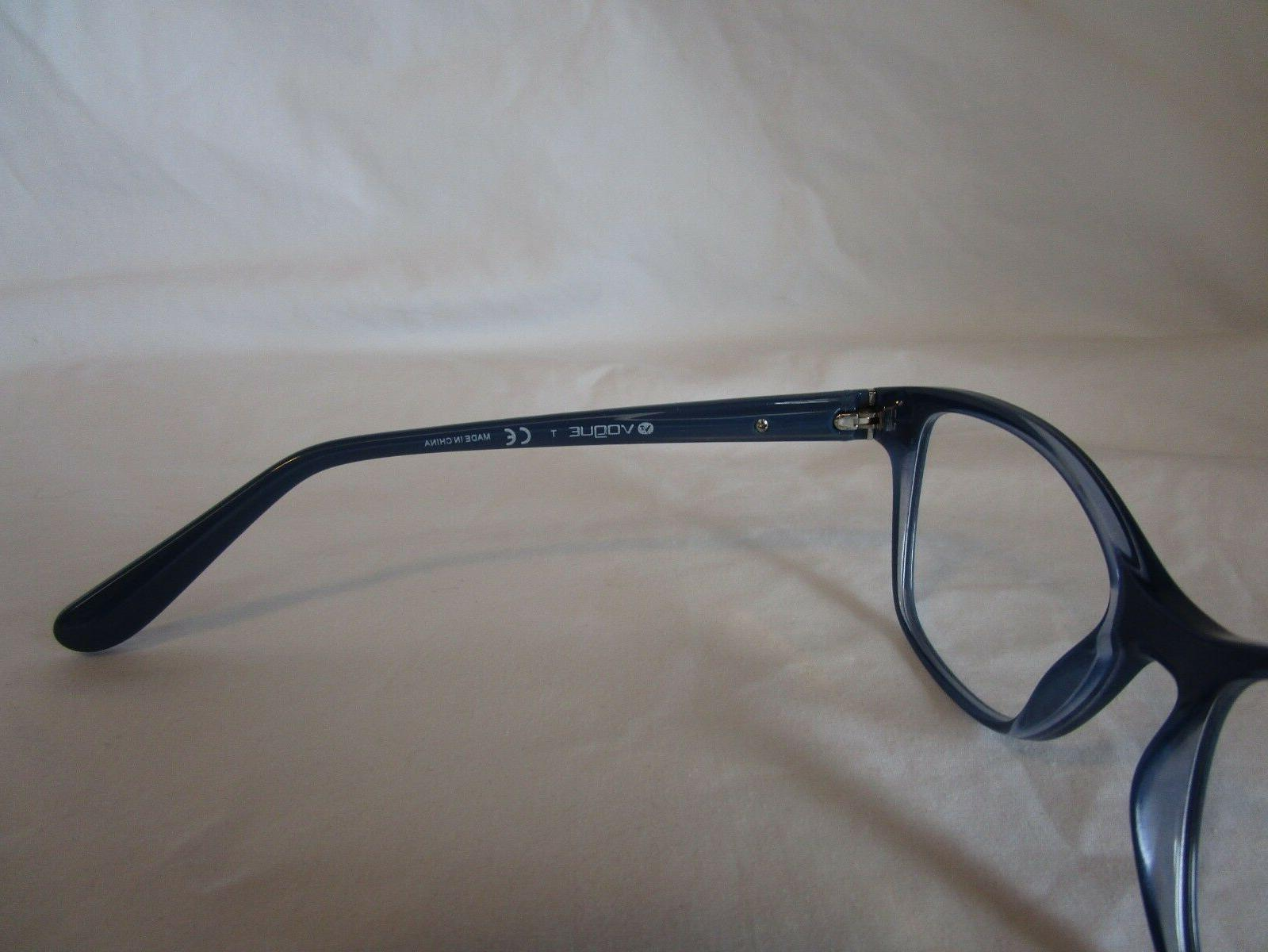 VOGUE EYEGLASS FRAME 2407 ON CLEAR BLUE AUTHENTIC