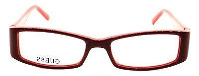 GUESS 066 Plastic Eyeglasses 51-16-135 Red CASE