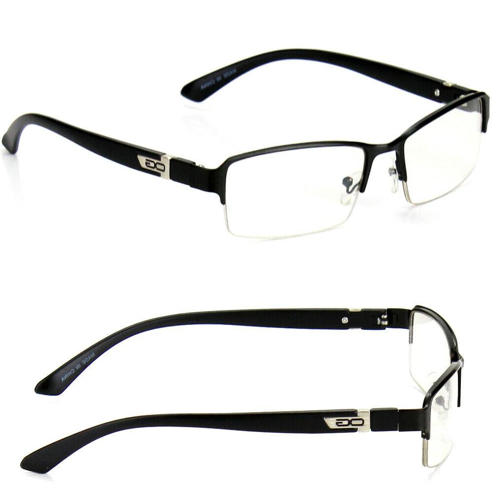 Half Rim Clear Lens Glasses RX