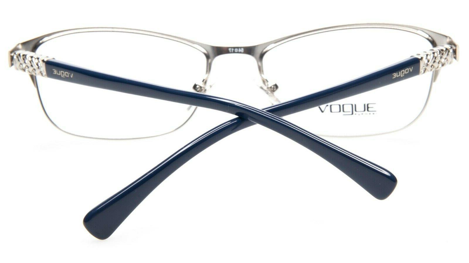 NEW VO 5051 BLUE /SILVER EYEGLASSES GLASSES 54-17-140