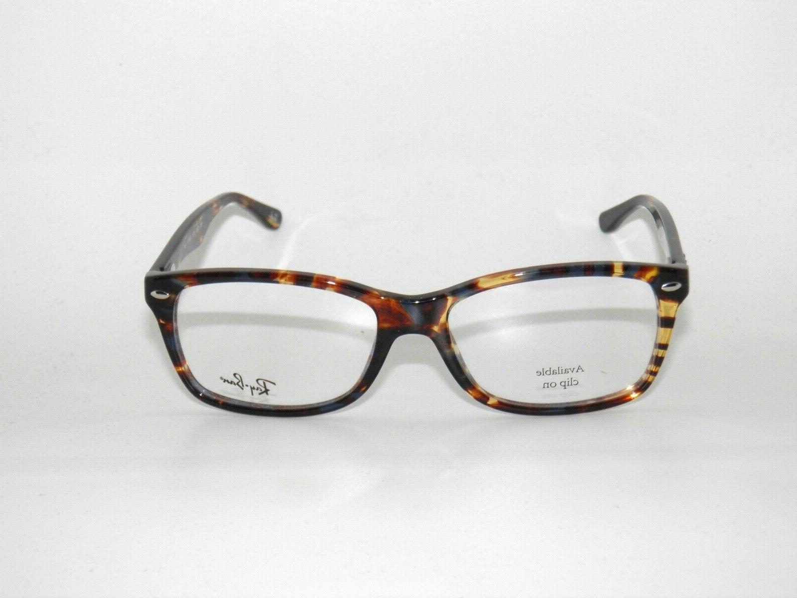 Ray 5228 5711 55 Spotted Blue Brown Yellow Eyeglasses Rayban Sale