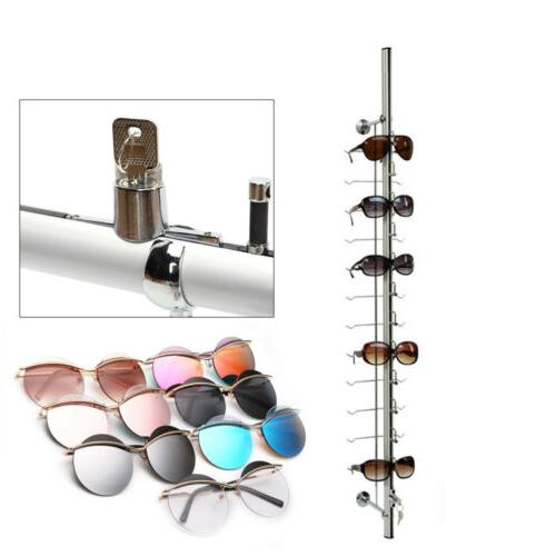 10PCS Aluminium Lockable Eyewear Sunglasses Eyeglasses Displ