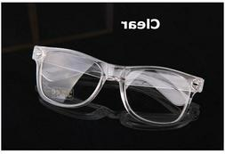 Men's Women VINTAGE RETRO Style Clear Lens EYE GLASSES Trans