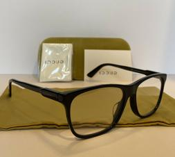 NEW GUCCI Mens GG0492OA 001 Black Eyeglasses Optical Frames