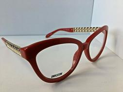 New MOSCHINO MO 12204 52mm Red Women's Eyeglasses Italy