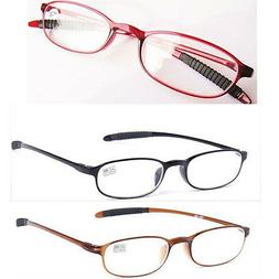 New Reading Glasses Oval TR90 Frame Reader Eyeglass 1.0 1.5