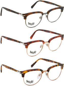 Persol Optical Men's Handmade Italian Browline Eyeglass Fram