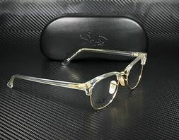 RAY BAN EYEGLASS FRAME CLUBMASTER RX5154 5762 CLEAR GOLD 51-
