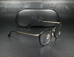 RAY BAN RX7140 2000 Shiny Black Demo Lens 49 mm Women's Eyeg