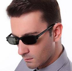 TR90 Mens Eyeglasses Frames with Magnetic Polarized Clip on