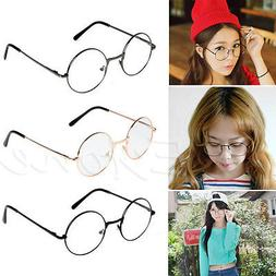 Unisex Retro Round Presbyopic Reading Glasses Metal Frame Pe
