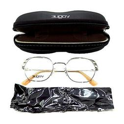 VOGUE VO4131 Womens Full Rim Semi-Oval Metal Eyeglass Frame